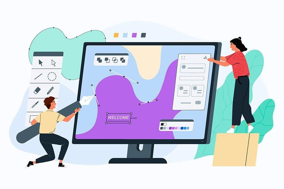 عناصر بصری طراحی سایت